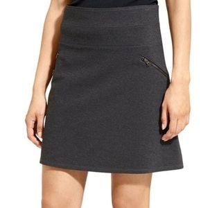 Athleta Grey Charcoal Zip Moto Mini-Skirt Pointe 8